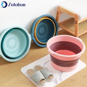 ZOTOBON łazienka składane umywalki przenośne mycie umywalki składana wanna do prania podróży gospodarstwa domowego masaż stóp wiadra do umywalki F264 tanie i dobre opinie CN (pochodzenie) Ekologiczne Nieprzezroczyste