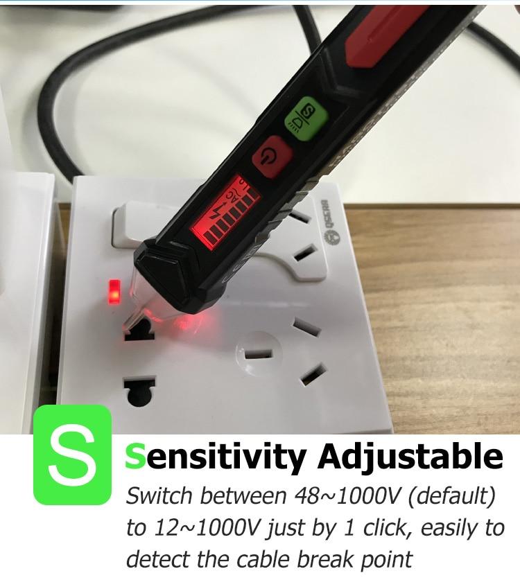 Habotest HT100E Intelligent Non-contact Pen Alarm AC voltage detector meter Tester Pen Sensor Tester