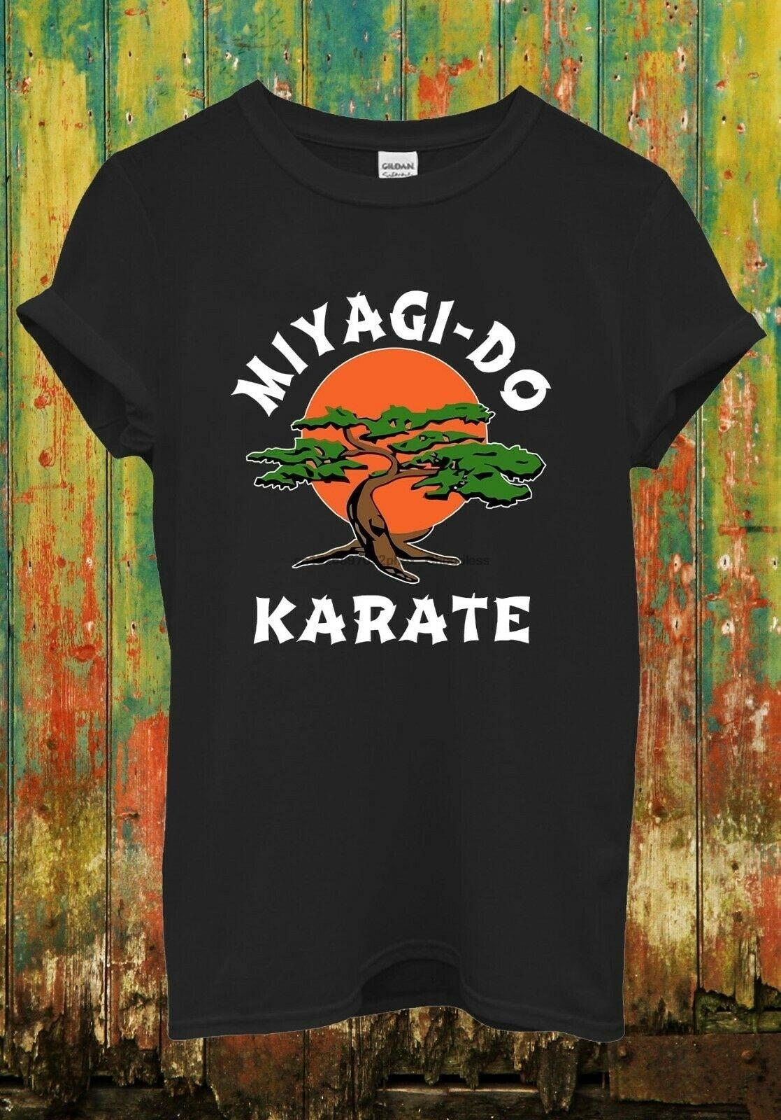 Каратэ-Пацан MIYAGI-DO 80 Ретро Винтаж Для мужчин Для женщин Для мужчин Топ Футболка унисекс 2649