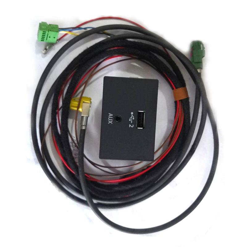 Mib 2 carplay mdi usb aux tomada interruptor botão para a3 8v q2