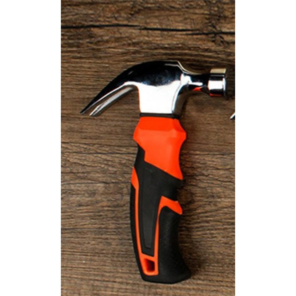 Round Head Plastic Handle Magnetic Claw Hammer For Woodworking And Electronic Tool, Mini Hammer Rubber Hammer Tool