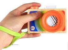 Деревянные Мультяшные модели камеры калейдоскоп игрушка для