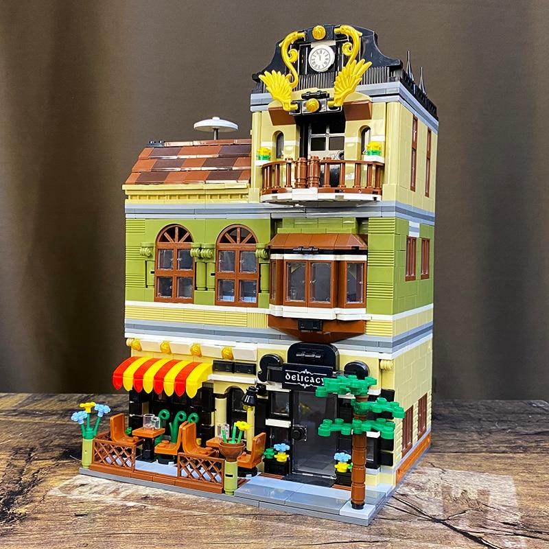 Creator Expert Street View QL0940 Gardon Hotel 1316Pcs Model Modular Moc Building Blocks Bricks Grand Emporium Pet Book Shop 10