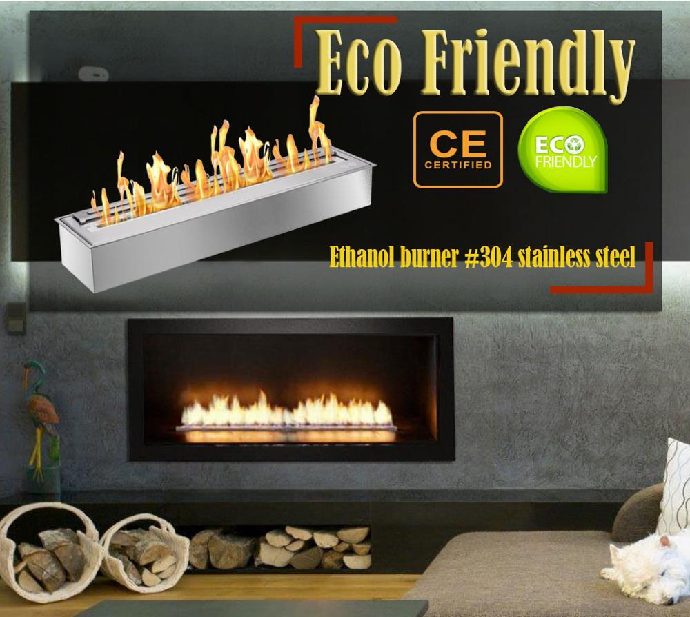 Inno Living Fire 36  Inch Bio Ethanol Glass Fireplace Ethanol Heaters
