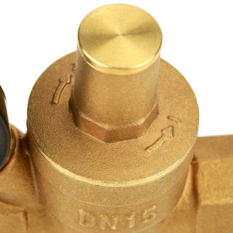 1 шт. DN15 NPT Регулируемый латунный редуктор регулятора давления W/Gauge Meter части