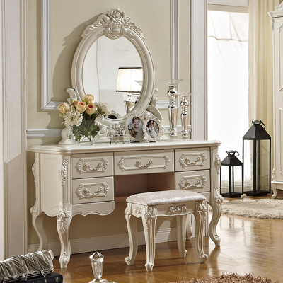 European Style Bedroom Dresser Small Dressing Table Small Apartment Mini Dressing Table 1.2 M