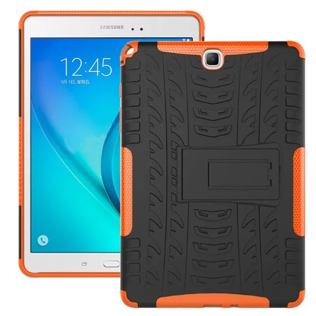 Armor Shockproof Non Slip Stand TPU+PC Tablet Case For Samsung Galaxy Tab A 9.7 T550 T555 SM-T550 SM-T555 Stand Cover Funda+Pen