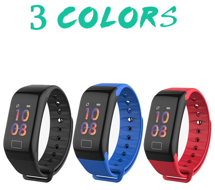 Smart Bracelet F1plus Blood Pressure Heart Rate Monitoring Waterproof Step Counter Bluetooth Color Smart Bracelet