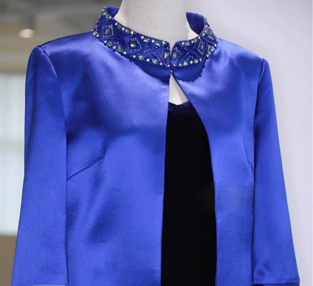 tailor shop custom made jacket beading jacket mother of the bride dress with jacket wedding dress mother mother of  bride suit