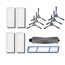 12Pcs Robot Rubberen Borstel + Filter Voor Ilife A7 A9S Veegmachine Vervanging Vegen Floor Cleaning Stofzuiger Accessoires
