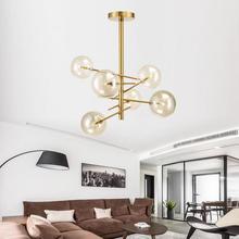 italian design lamp glass ball bubble chandelier for living room Dining kitchen Island Black Rose Gold rh light