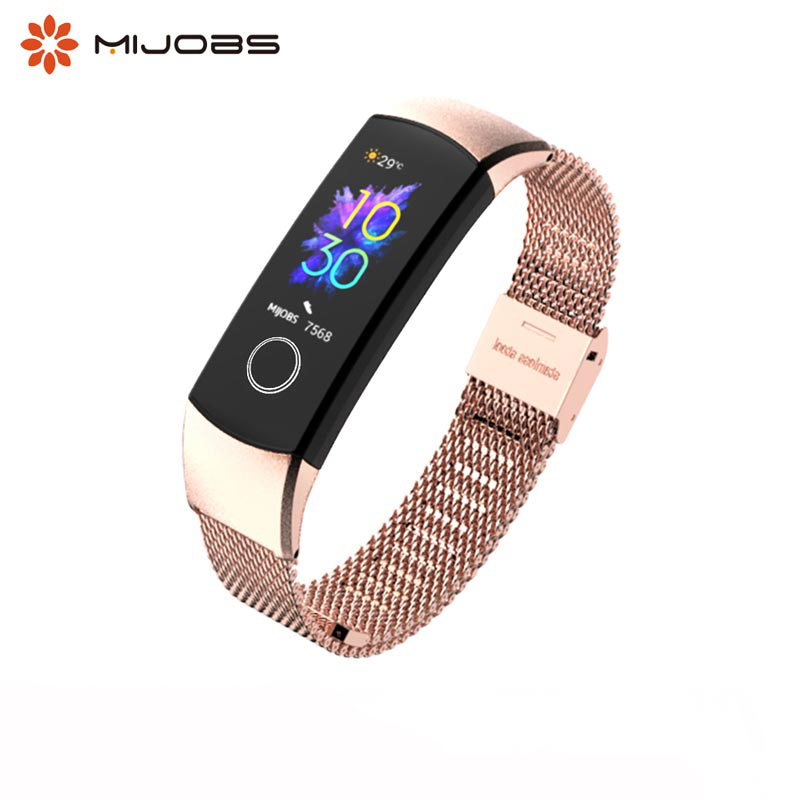 For Honor Band 5 Strap Milanese Metal Strap Smart Wristband For Honor Band 4 Stainless Steel Bracelets For Huawei Honor 4 Strap