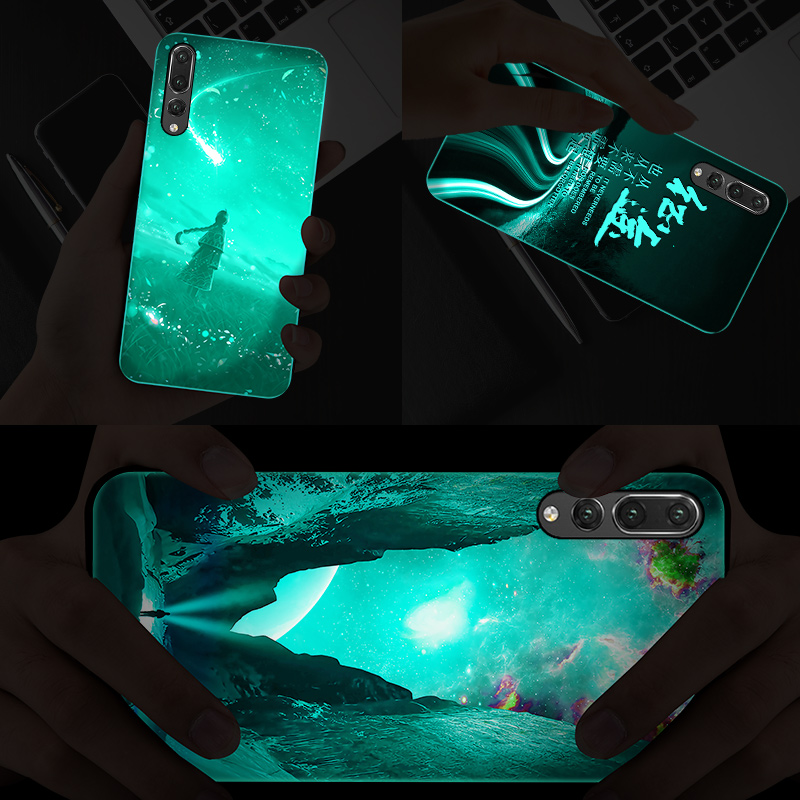 Купить с кэшбэком Lion Phoenix Wolf Tiger Luminous Phone Cover For Huawei P40 P30 P20 Mate Honor 30 20 10 9 8 X Pro Lite Tempered Glass Case Capa