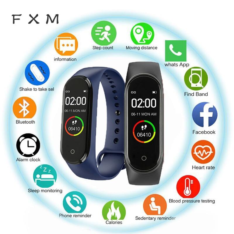 Belt Watch-Monitor Fitness Waterproof Smart Women Sports New M4 FXM Label Blood-Pressure-Heart-Rate-Monitor