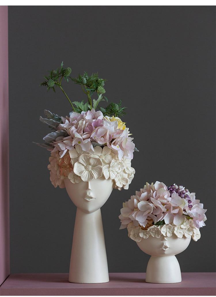 organização armazenamento desktop arranjo flor moderna casa enfeites cachepot para flores
