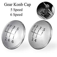 5/6 Speed MT Gear Shift Knob Cover Cap Badge For VW Golf Jetta MK5 MK6 2003-2009 Bora