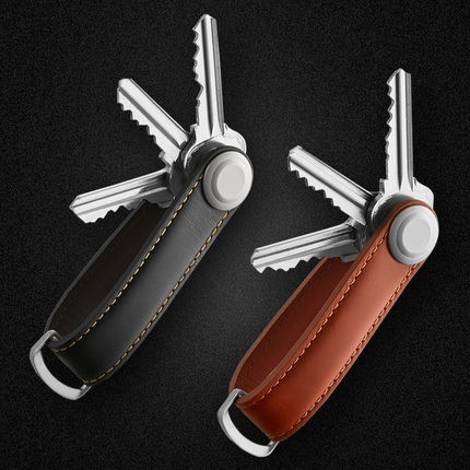 Car Key Pouch Bag Case Wallet Holder Chain Key Wallet Ring Collector Housekeeper EDC Pocket Key Organizer Smart Leather Keychain(China)