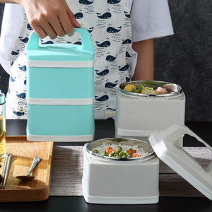 ONEUP Stainless Steel Lunch Box New Office Worker Portable Leakproof Bento Box Large Capacity Food Container Insulation Bucket