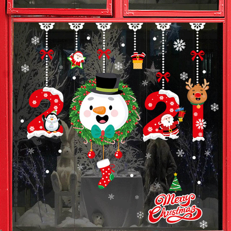 27Pcs Christmas Snowflake Window Sticker Christmas Wall Stickers Room Wall Decals Christmas Decorations for Home New Year 2021 6
