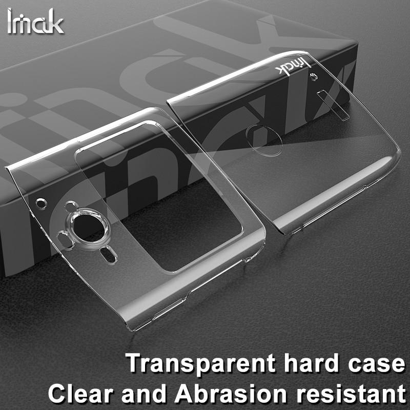 IMAK износостойкий прозрачный жесткий пластиковый чехол для телефона Moto Razr 2019 чехол для Motorola Razr 2019 задняя крышка