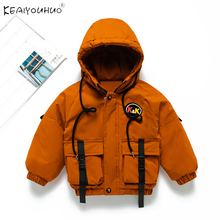 Baby Coat Hoodies Outerwear Zipper Childrens-Jacket New Warm Orange for Boy Suit 2-3-4-5-Years-Old