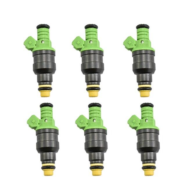 6 قطعة/الوحدة عالية الأداء 440cc العالمي ev1 حاقن الوقود 0280150558 لأودي bmw vw ضبط سباق