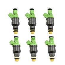 Inyector de combustible universal ev1 para audi, bmw, vw, tuning racing, alto rendimiento, 440cc, 0280150558, 6 unidades por lote
