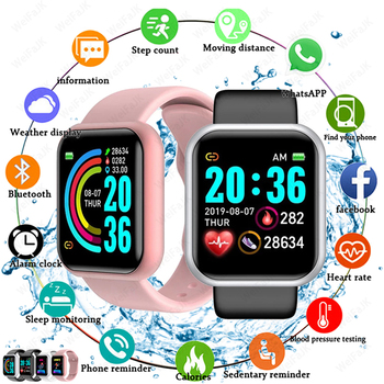 2020 Smart Watches Men Women D20 Smart Watch Blood Pressure Monitor Sports Fitness Bracelet Smartwatch For Apple Xiaomi Android 1