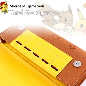 Image 2 - For Nintend Switch leather Case Soft Carry Travel Bag Console Accessories Portable Storage Shell Pikachu1 Mario1 Eevee1