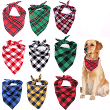 Classic Red Black Plaid Pet Dog Bandana Cat Puppy Kerchief Pet Grooming Accessories Pet Neckerchief Scarf Dog Saliva Towel