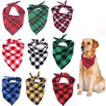 Classic Red Black Plaid Pet Dog Bandana Cat Puppy Kerchief Pet Grooming Accessories Pet Neckerchief Scarf Dog Saliva Towel