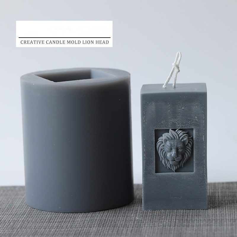 Candle mold creative candle lion head mold European style retro aroma candle decoration handmade DIY material