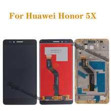 5.5 High-quality LCD For Huawei honor 5X display + touch screen digitizer assembly for GR5 Screen repair parts