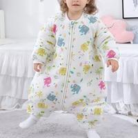 Baby Cotton Summer Cartoon Toddler Baby Kids Sleeping Bag Rompers Sleep Sack Kids Bed Soft Children Pajamas Jumpsuit 70/80/90cm