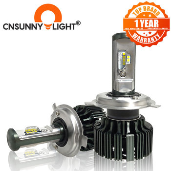 цена на CNSUNNYLIGHT H7 H4 H11 LED H13 9005/HB3 9006/HB4 H1 Car Headlight Kit 6000K Bulbs CSP Auto Front H3 880/881 H8 Fog Lamps w/ Fan