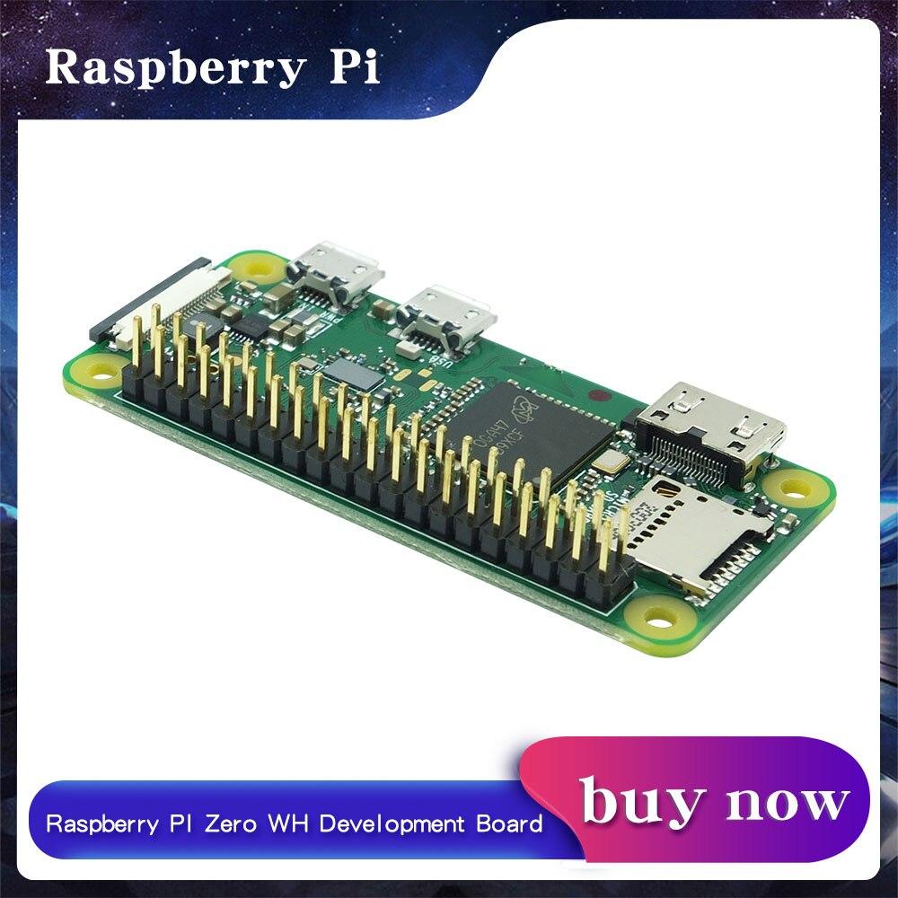 Raspberry Pi Zero WH плата 1GHz CPU 512MB RAM с WIFI и Bluetooth PI0 RPI 0 WH с пайкой
