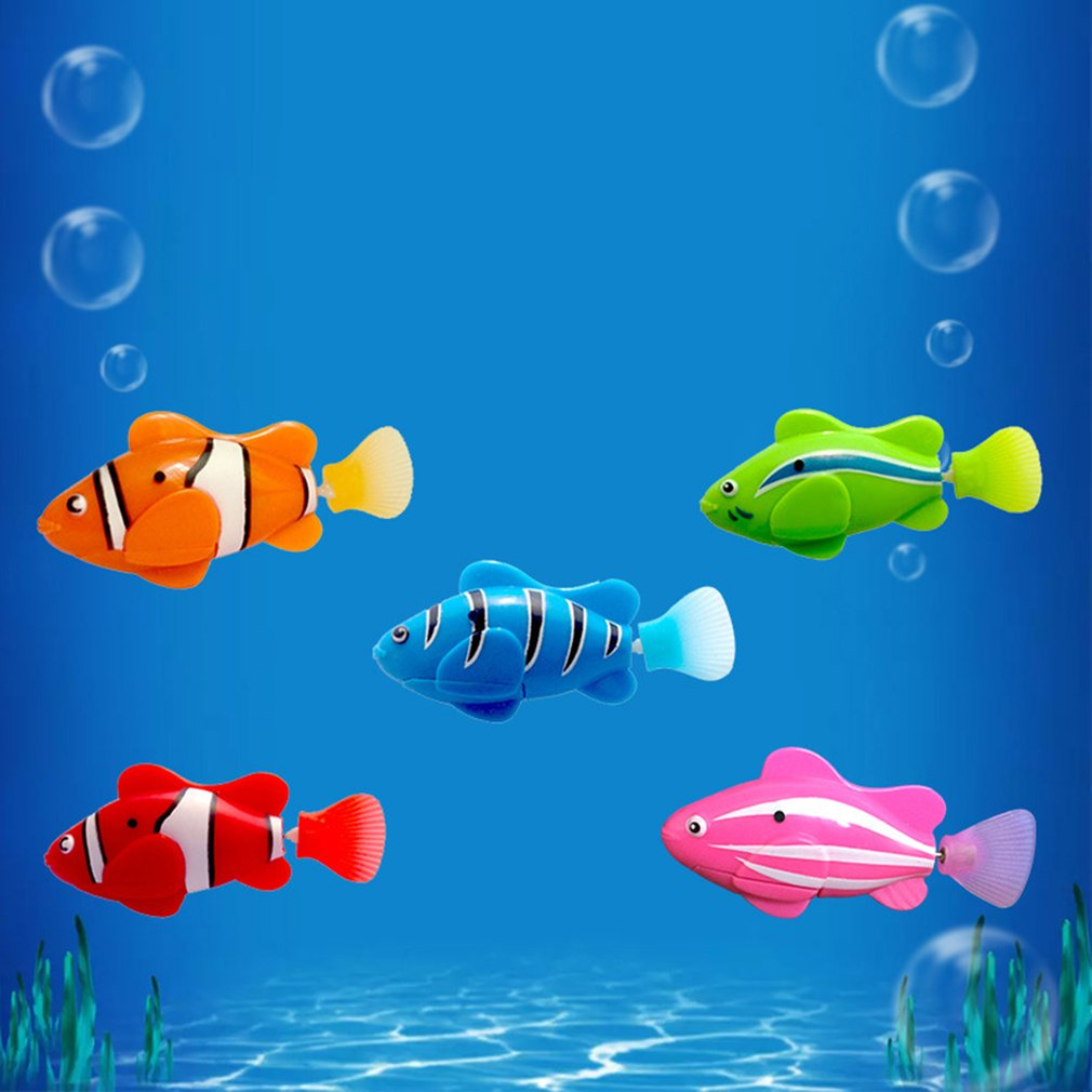 Mini Bionic Fishing Toy Electric Swimming Magical Le Bao Fish Underwater World Deep Sea Electronic Sensing Fish Baby Bath Gifts