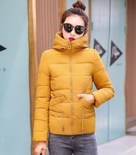 ZOGAA 2019 Winter Women Parkas Cotton-padded Hooded Coat Short Warm Turtle Neck Female Coats Fashions