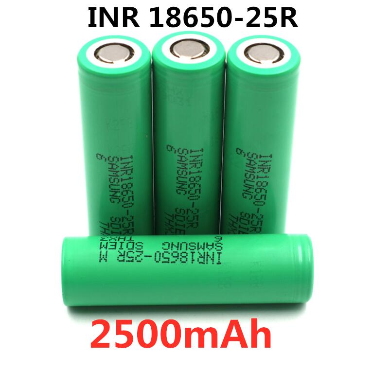 100% Original For Samsung 3.6V 18650 2500mah battery INR18650 25R 20A discharge lithium batteries screwdriver flashlight image