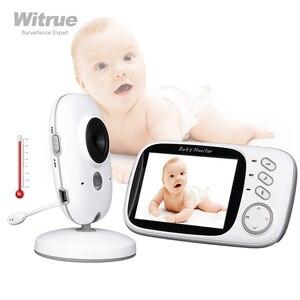 Image 1 - Wideo bebe niania elektroniczna Baby Monitor VB603 2.4G bezprzewodowy 3.2 cali LCD 2 Way rozmowy Audio Night Vision niania wideo baba eletronica babyfoon
