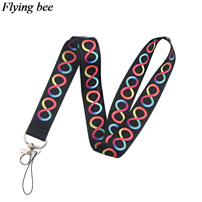 Flyingbe Fashion Phone Lanyards Fashion Lanyards Badge ID Cards Holders Chain Women Charming Necklace Lanyard X0826