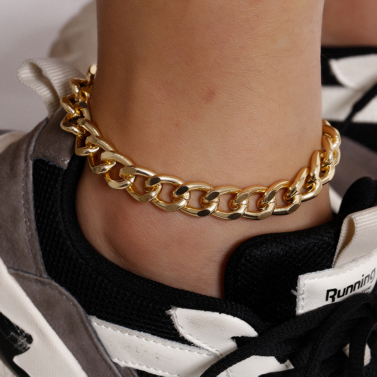 Exaggerated Punk Thick Ankle Chain Women Simple Figaro Chain Foot Bracelet Anklet 2020 Fashion Beach Jewelry