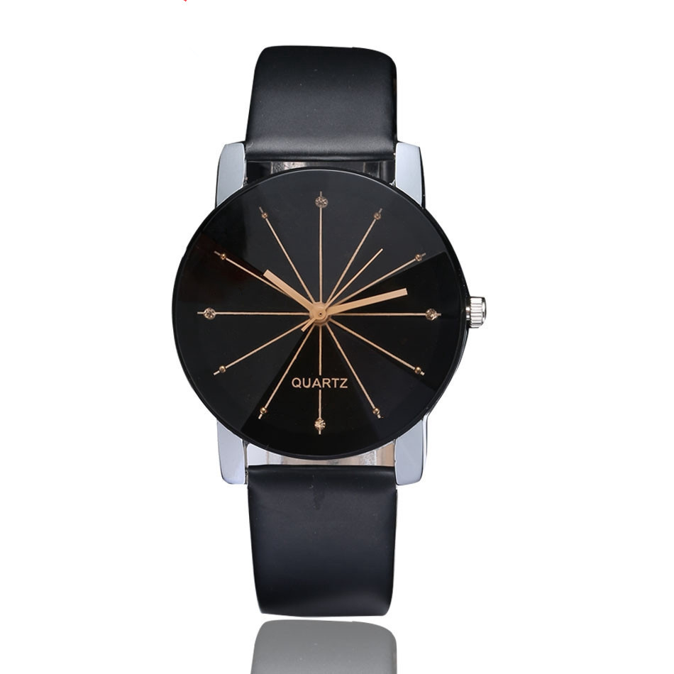 New Fashion Multiple Colour Couple's Quartz Watches Convex Radial Belt Watches Leisure Men's And Women's Watch Bracelet Watch