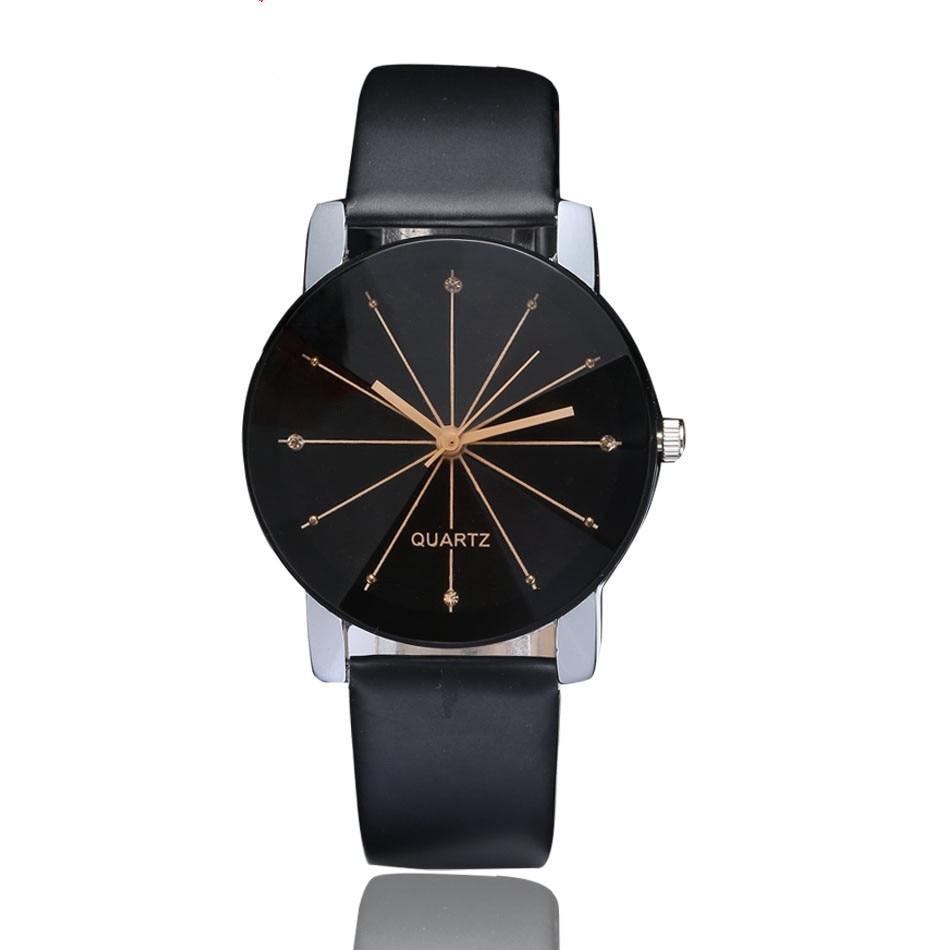 New Fashion Multiple Colour Couple's Quartz Watches Convex Radial Belt Watches Leisure Men's And Women's Watch Bracelet Watch
