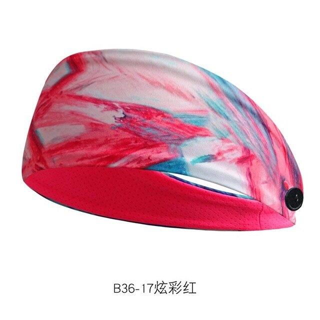 Sweat-absorbent Yoga Headband Sports Sweat-absorbent Headband Men and Women Sports Anti-sweat Belt Yoga Headband Button Headband 3