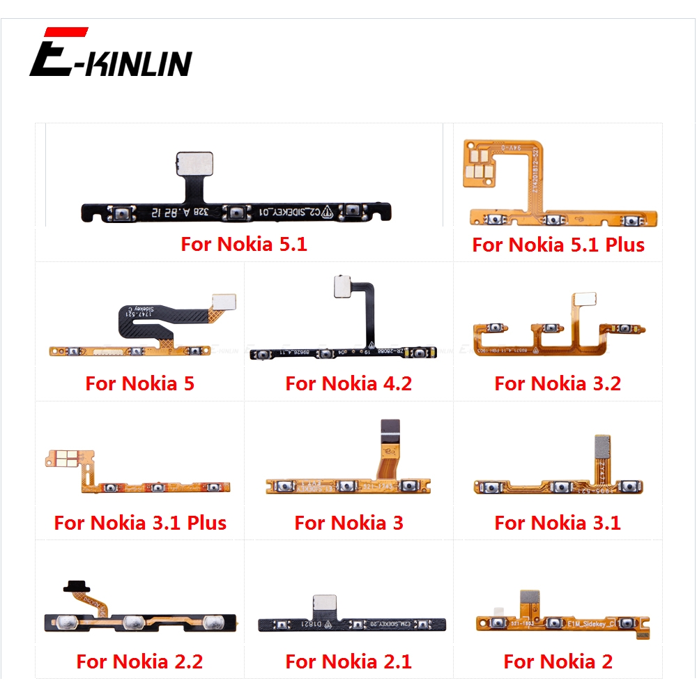 Switch Power ON OFF Button Flex Cable Ribbon For Nokia 5.1 3.1 Plus 2 2.1 2.2 3 3.2 4.2 5 Mute Silence Volume Key Repair