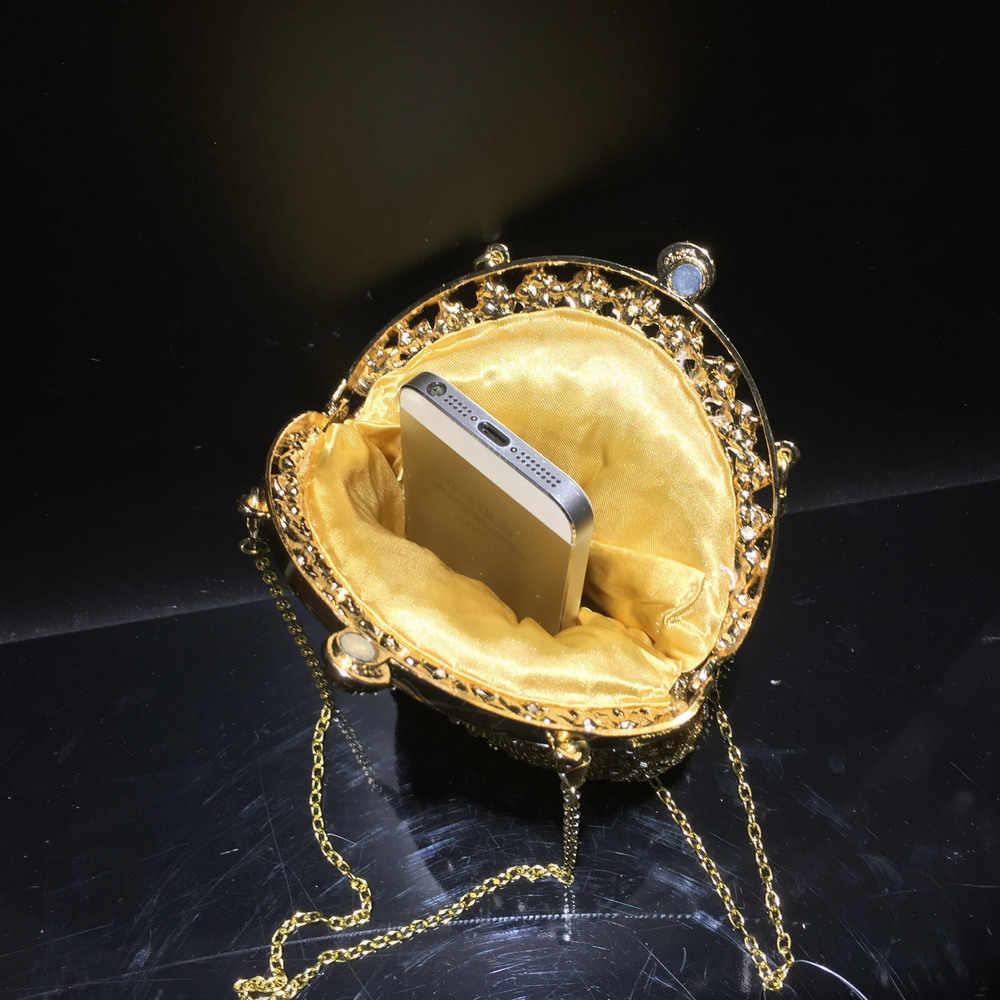 חדש 2020 פרל ואגלי ערב מצמדי קריסטל חתונת כלה מצמד יהלומים קטן טלפון תיק אלגנטי LadyParty לנשף תיקים