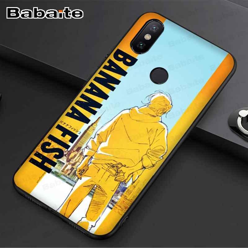 Case untuk Redmi 7 Pisang Ikan Anime Lembut Ponsel Case Penutup Shell untuk Redmi 5Plus 5A 6pro 7 Note5A note4 Note6pro Note7 Cover