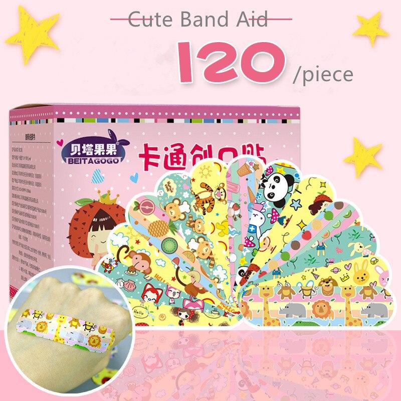 Bandagem do bebê 120 pçs adesivo bandaid adesivos bandaids bonito ataduras para feridas das crianças à prova dwaterproof água gesso crianças respirável