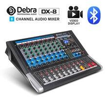 Дебра аудио DX-8 8-ми канальный аудио dj микшер контроллер звуковая карта с 24 DSP эффект, включающим в себя гарнитуру блютус и флеш-накопитель USB XLR Jack Aux Вход